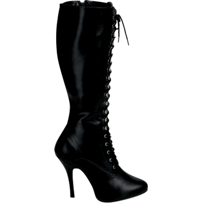 Black Knee High Stiletto Boots