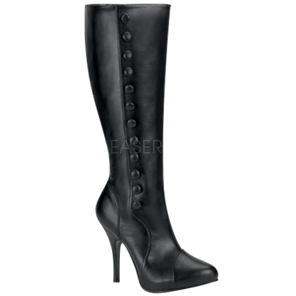 Knee High Victorian Stiletto Boots