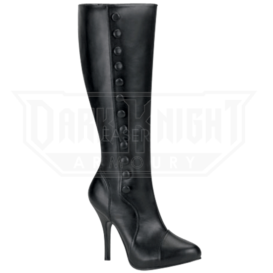 best loved 95aad d1fff Knee High Victorian Stiletto Boots