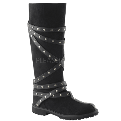 Knee High Studded Strap Boots
