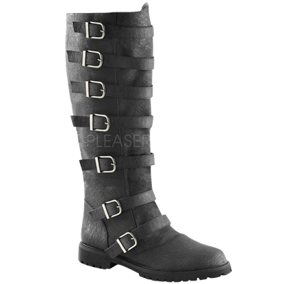 Multi-Buckle Knee High Boots