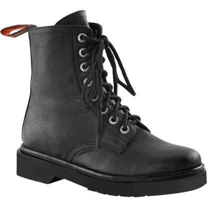 Womens Lace-Up Combat Boots