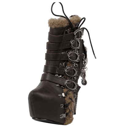 Adler Buckled Steampunk Heel Boots