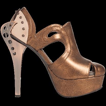 Catteu Bronze Platform Heels
