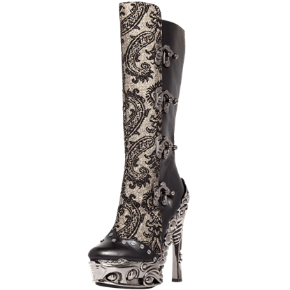 Arianna Corset Clasp Knee High Boots