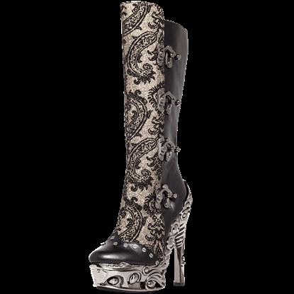 Arianna Corset Clasp Knee High Boots