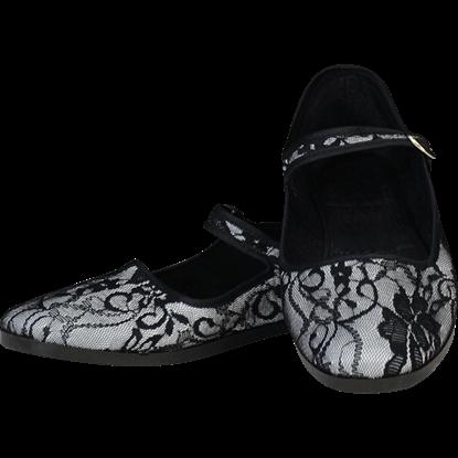 Black Lace Lady Jane Shoes