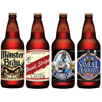 Halloween Slapsticker Beer Bottle Labels
