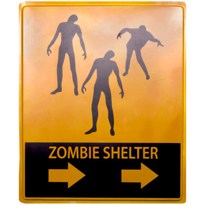 Zombie Shelter Sign