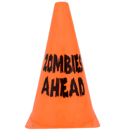 Zombies Ahead Cone