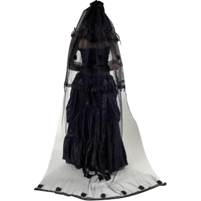 Gothic Bitter Beauty Extra Long Rose Veil