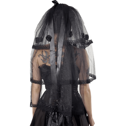 Gothic Bitter Beauty Short Rose Veil