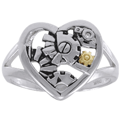 Steampunk Heart Ring