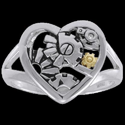 Steampunk Heart Ring