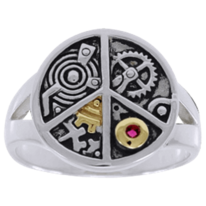 Clockwork Peace Ring