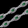 Celtic Bracelet with Gemstones
