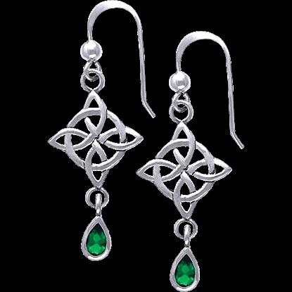 Four Point Celtic Knot Dangle Earrings