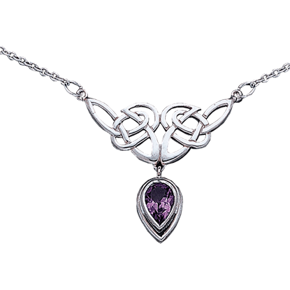 Silver Celtic Knotwork Necklace