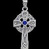 Celtic Cross Pendant with Birthstone