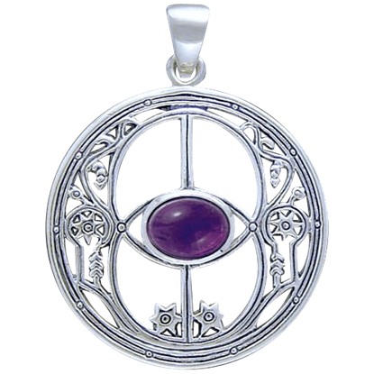Chalice Well Gemstone Pendant