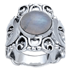 Silver Moon Ring