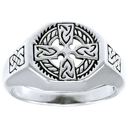 Celtic Cross Medallion Ring