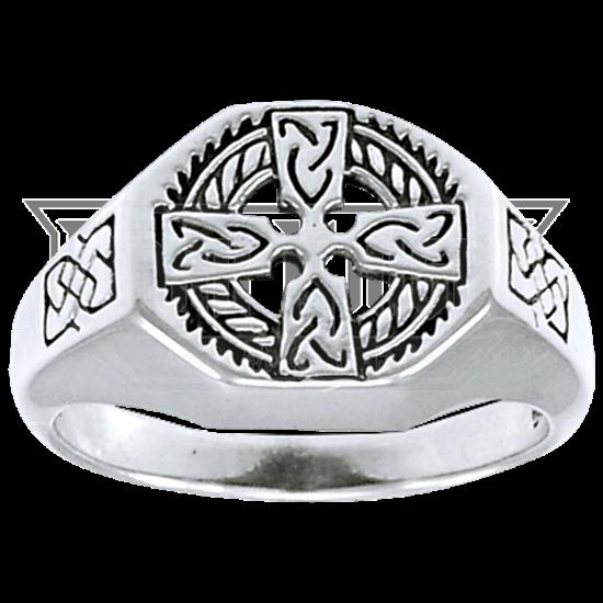Celtic Cross Medallion Ring