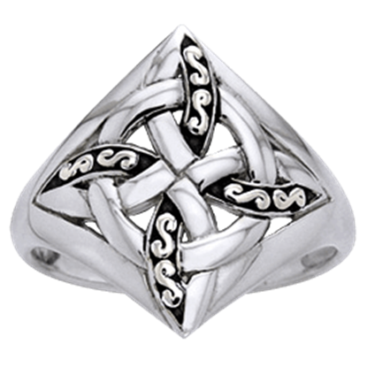 Celtic Four Point Knot Ring