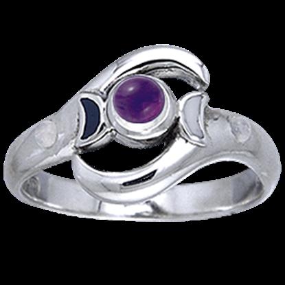 White Bronze Lunar Tides Ring