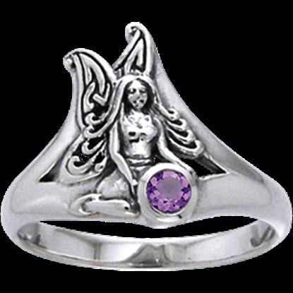 White Bronze Gem Fairy Ring