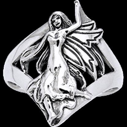 White Bronze Dancing Fairy Ring