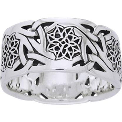 Celtic Flower Knotwork Band
