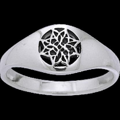 Celtic Eternal Knot Flower Ring