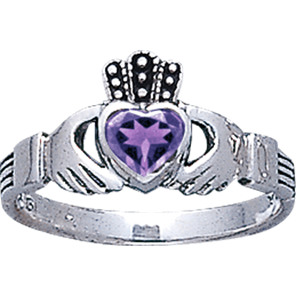 Celtic Claddagh Birthstone Ring