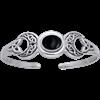 White Bronze Magic Moon Cuff Bracelet