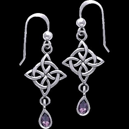 White Bronze Quaternary Gemstone Earrings
