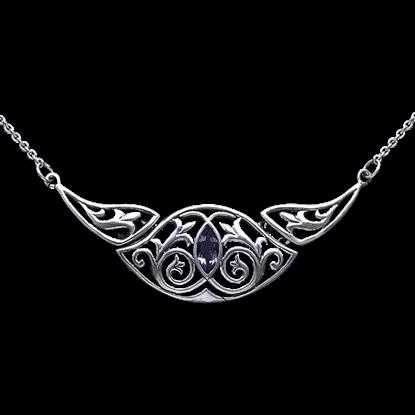 White Bronze Celtic Vines Necklace
