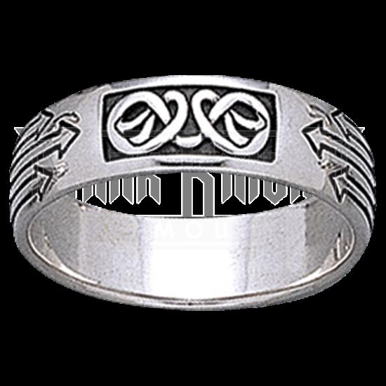 Celtic Arrow Knotwork Ring