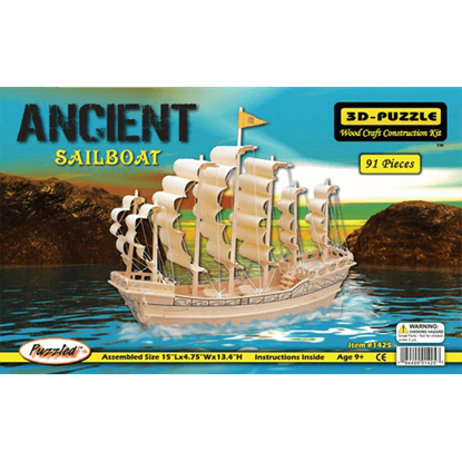 Ancient Sailboat 3-D Puzzle