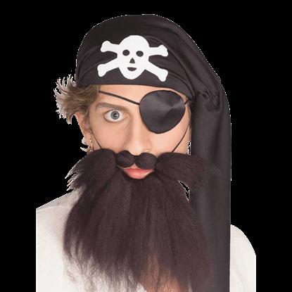 Pirate Beard and Mustache Set