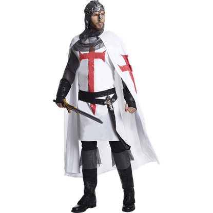 Mens White Knight Costume