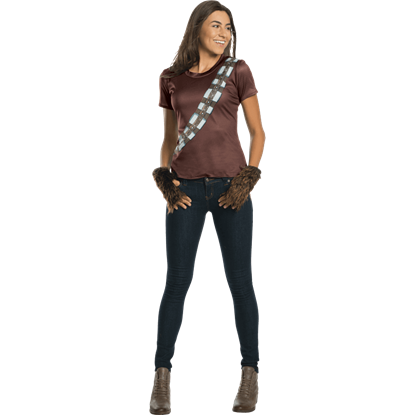 Adult Chewbacca Rhinestone Costume Top