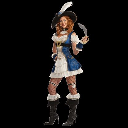 Womens Bonnie Blue Pirate Costume