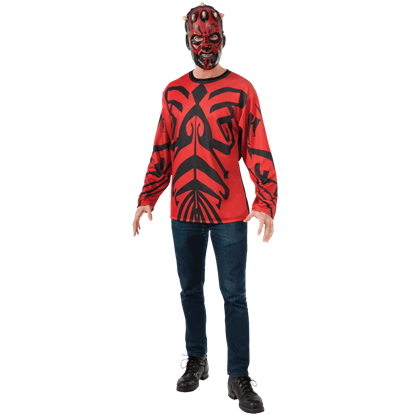 Adult Darth Maul Costume Top with Mask