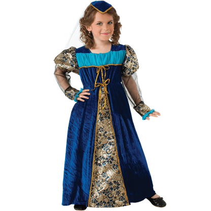 Blue Camelot Princess Girls Costume