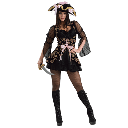 Womens Lacy Pirate Costume