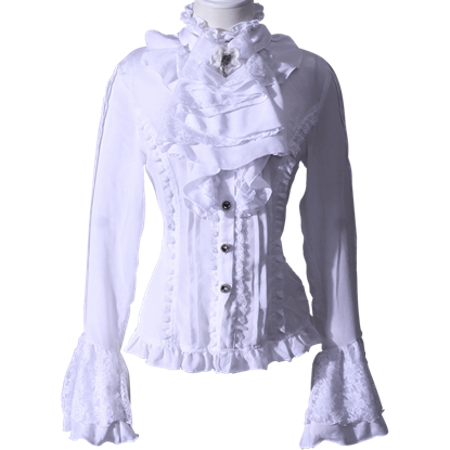 Gothic Pleated Jabot Shirt