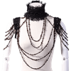 Gothic Beaded Collar and Shoulder Drape