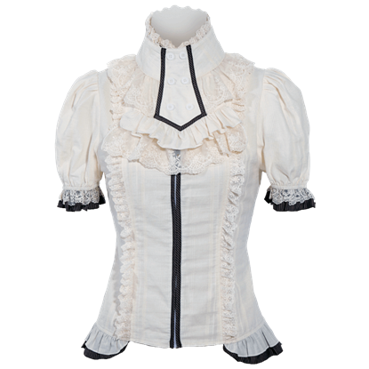 Steampunk Short Sleeve Jabot Shirt