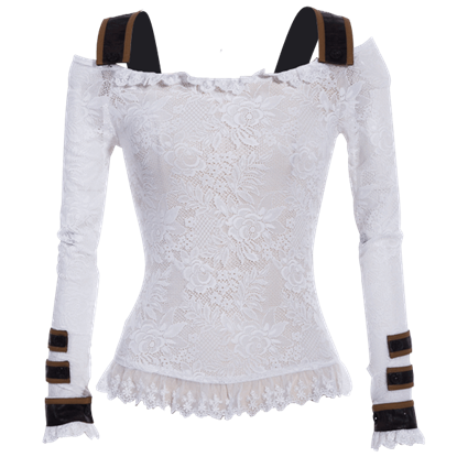 Steampunk Long Sleeve Lace Shirt
